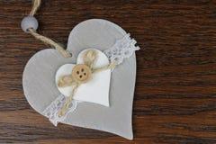 Серое декоративное сердце Стоковое Изображение RF