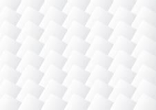 Серое и белое 3d придает квадратную форму предпосылке Стоковые Изображения RF