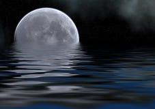 серое море луны Стоковое Изображение RF