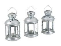 серое трио олова рядка металла фонарика Стоковое Изображение RF