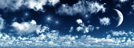 серповидный вощить ночи Стоковое Изображение