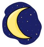 серповидная луна иллюстрации Стоковое Фото
