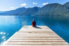 Серповидное озеро стоковая фотография