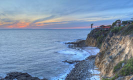 Серповидный заход солнца парка пункта залива Стоковое Изображение RF