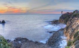 Серповидный заход солнца парка пункта залива Стоковые Изображения RF