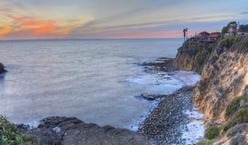 Серповидный заход солнца парка пункта залива Стоковое фото RF