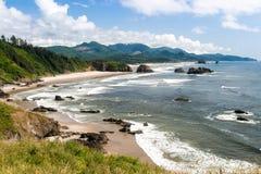 Серповидный пляж, парк штата Ecola, Орегон Стоковое Фото