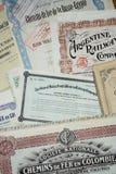 Сертификаты на получение акций Стоковые Фото