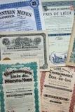 Сертификаты на получение акций Стоковая Фотография