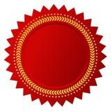 Сертификат красного цвета вектора Стоковая Фотография RF