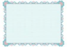Сертификат голубого guilloche официальный пусто опорожните бесплатная иллюстрация