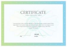 сертификат Граница валюты диплома шаблона Стоковые Фотографии RF
