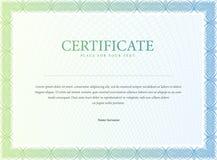 сертификат Граница валюты диплома шаблона Стоковые Фото