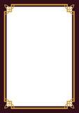сертификат граници Стоковые Фотографии RF