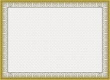 Сертификат, диплом для печати Стоковая Фотография RF