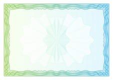 сертификат Дипломы шаблона, валюта вектор Стоковое фото RF