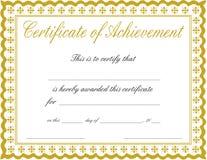 сертификат достижения стоковые изображения rf