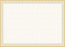 Сертификат, диплом для печати Стоковое Изображение RF
