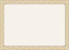 Сертификат, диплом для печати Стоковые Фото