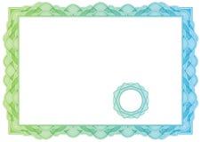 Сертификат. Картина для валюты, дипломы вектора Стоковое фото RF