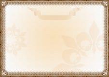 сертификат пожалования пустой Стоковое фото RF