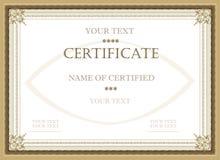 сертификат пожалования Стоковая Фотография RF
