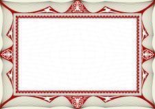 сертификат предпосылки Стоковые Фотографии RF