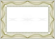 сертификат предпосылки Стоковое Изображение