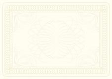 сертификат предпосылки бесплатная иллюстрация