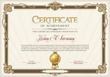Сертификат рамки года сбора винограда достижения Ландшафт Стоковое Фото