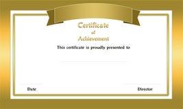 Сертификат рамки стоковая фотография rf