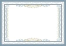 сертификат Стоковая Фотография