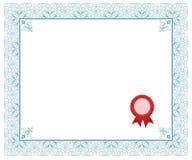 сертификат Стоковое Изображение