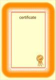 сертификат Стоковые Изображения RF