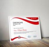 сертификат Стоковое Изображение RF