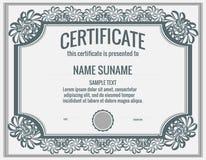 сертификат стоковая фотография rf