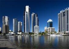 серферы рая золота свободного полета Австралии Стоковое Фото