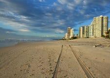 серферы рая пляжа Австралии Стоковое Фото