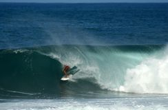 серфер берега Гавайских островов бочонка северный Стоковое Изображение RF
