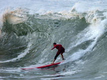 серфер вверх по теплому стоковые фотографии rf