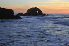 Серфер в Сан-Франциско приземляется конец Стоковое Фото