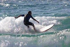 Серфер в Сардинии Стоковая Фотография