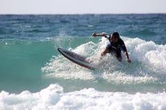 Серфер в Сардинии Стоковые Фотографии RF