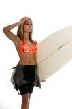 серфер девушки Стоковая Фотография