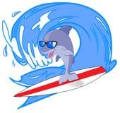 серфер дельфина Бесплатная Иллюстрация