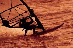 серфер захода солнца Стоковое Фото