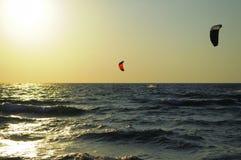 Серфер моря фото далеко Стоковая Фотография RF