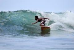 серфер океана Стоковое Изображение RF