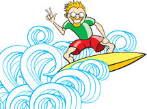 серфер парня Стоковое Изображение RF