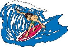 серфер потревожился Иллюстрация штока